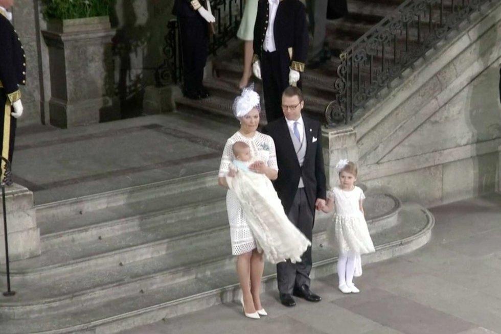 Švedijos karališkoji šeima (nuotr. stop kadras)