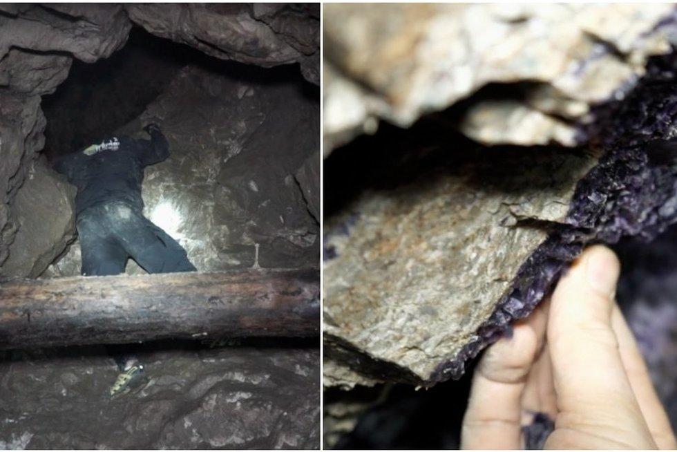 Apsilankę apleistoje urano kasykloje lietuviai rado tai, ko nesitikėjo aptikti (nuotr. stop kadras)