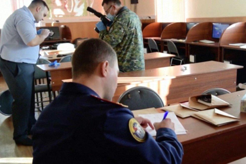 Šaudynės Rusijoje (nuotr. stop kadras)