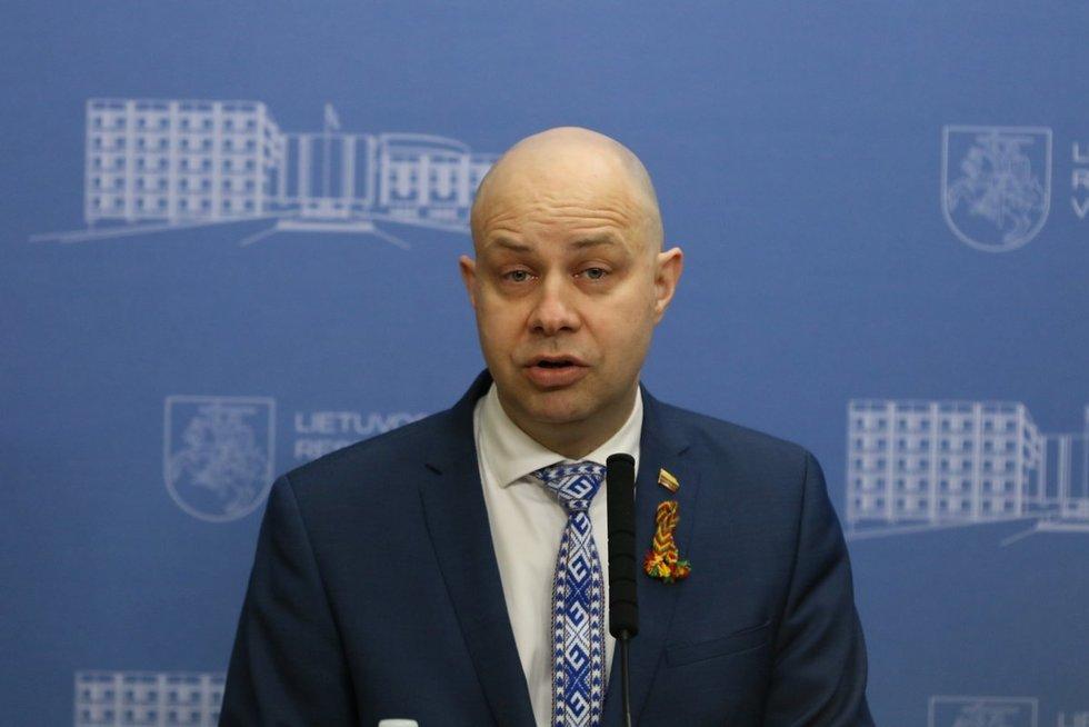 Valstybės ekstremaliųjų situacijų operacijų centro  spaudos konferencija dėl naujų užsikrėtimo koronavirusu atvejų (nuotr. Broniaus Jablonsko)
