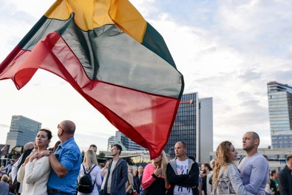 """Šimtmečio piknike """"Vilnius - Lietuvai"""" skambėjo Lietuvos himnas (nuotr. fotodiena/Justino Auškelio)"""