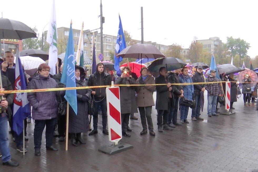 Piketas prieš Kauno rajono jungimą prie miesto