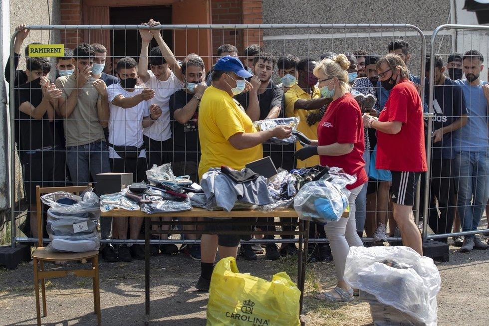 Migrantai Lietuvoje maitinami tris kartus per dieną (nuotr. SCANPIX)