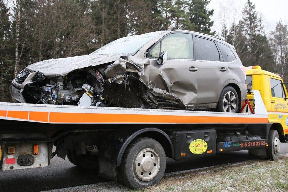Prezidento patarėjas Žukas pateko į avariją (nuotr. Broniaus Jablonsko)
