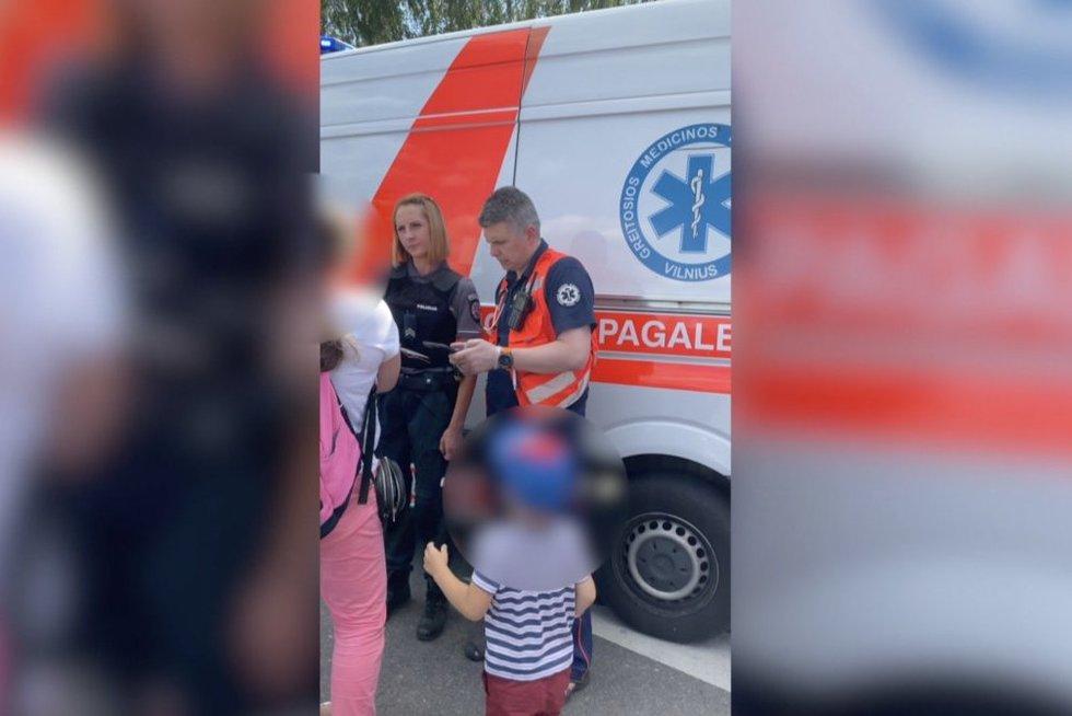 Vilniuje svilinant saulei motina automobilyje paliko 2 metukų vaiką  (nuotr. stop kadras)