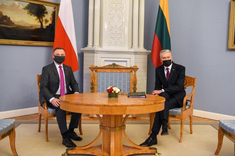 Lenkijos prezidentas Andrzejus Duda vieši Lietuvoje (nuotr. Roberto Dačkaus)