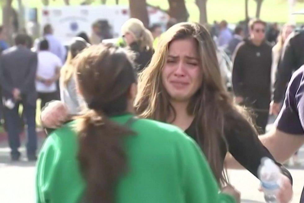 Išpuolis Los Andžele (nuotr. stop kadras)