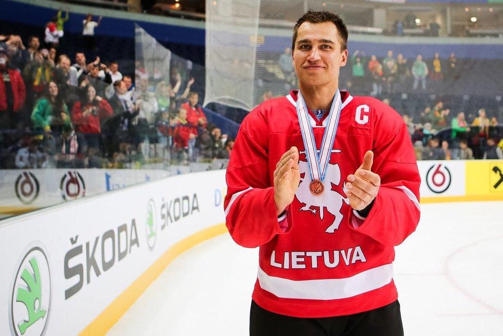 Dainius Zubrus Lietuvos rinktinėje (nuotr. hockey.lt)