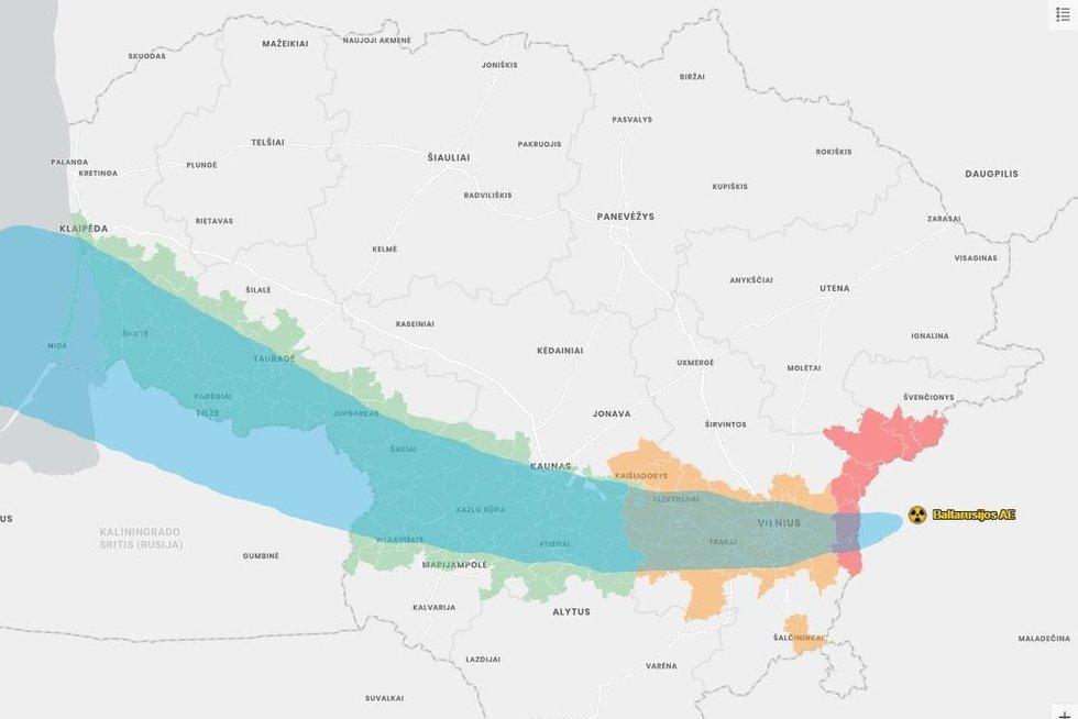 Lietuvos zonos įvykus avarijai Astravo AE, lt72.lt nuotr.