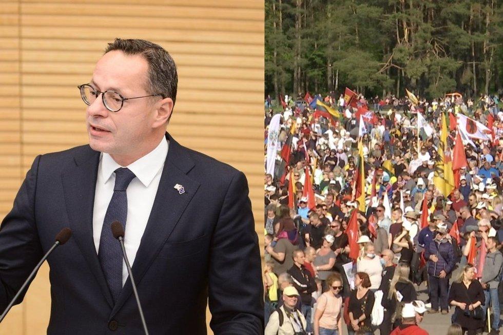 Po Baltarusijos veiksmų Pavilionis paragino pasižiūrėti ir į save: išskyrė šeimos maršo dalyvius (tv3.lt koliažas)