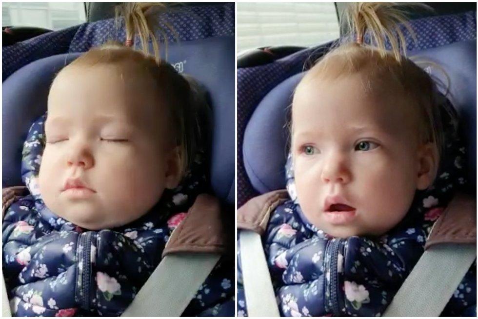 Mieliau nebūna: nufilmavo, kas nutiko, kai miegojusi mergaitė išgirdo mėgstamą dainą (tv3.lt koliažas)